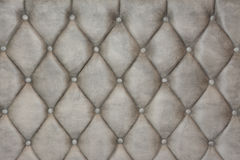 Luxurious silver leather texture furniture with buttons Stock Image