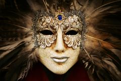 Luxurious silver mask Royalty Free Stock Photos