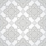 Luxurious silver seamless wallpaper Stock Photos