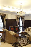 Luxurious sitting room of Europe type style of the club royalty free stock image