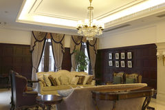 Luxurious sitting room of Europe type style of the club stock photos