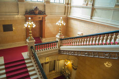 Luxurious staircase. Close-up of an old luxurious staircase Stock Photo