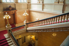 Luxurious staircase. Close-up of an old luxurious staircase Stock Image