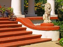 Luxurious Stairway. A fancy stairway leading to a luxurious home Stock Image