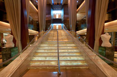 Luxurious stairway. From the interior of a cruise ship Royalty Free Stock Photo