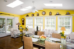 Luxurious sun room for dining Royalty Free Stock Photography