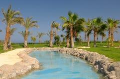 Luxurious swimming pool Royalty Free Stock Photos