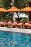 Luxurious swimming pool Stock Photo