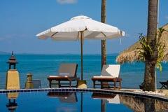 Luxurious swimming pool Stock Photos