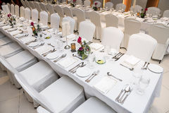Luxurious table set up Stock Image
