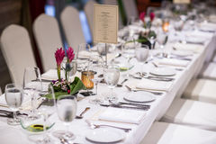 Luxurious table set up Royalty Free Stock Images