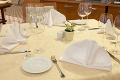 Luxurious table setting Royalty Free Stock Photo