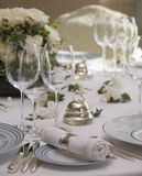 Luxurious table setup Royalty Free Stock Photography