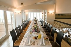 Luxurious tablesetting Royalty Free Stock Photo