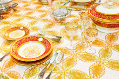 Luxurious tableware Royalty Free Stock Photography
