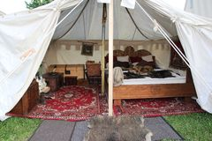 Luxurious tent of a knigth Royalty Free Stock Photo