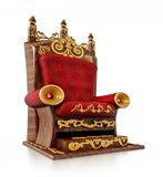 Luxurious throne isolated on white background. 3D illustration.  Stock Photo