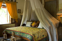 Luxurious Tropical Hide-away Bedroom Royalty Free Stock Image