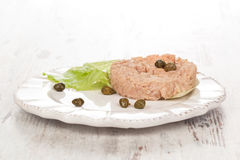 Luxurious tuna plate. Royalty Free Stock Photography