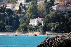 Luxurious Villa on The Beach in France royalty free stock images