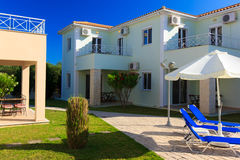 Luxurious villa at Greek resort Royalty Free Stock Image