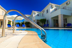Luxurious villa at Greek resort Royalty Free Stock Photography