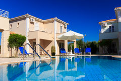Luxurious villa at Greek resort Stock Images