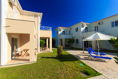 Luxurious villa at Greek resort Stock Photography