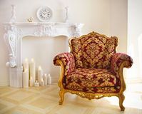 Luxurious vintage armchair Royalty Free Stock Images