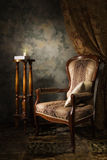 Luxurious vintage interior with armchair Royalty Free Stock Photography
