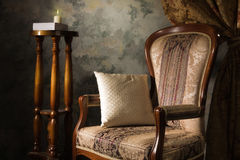 Luxurious vintage interior with armchair. In the aristocratic style Royalty Free Stock Photo