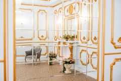 Luxurious vintage interior. Luxurious room interior in the vintage style stock photography