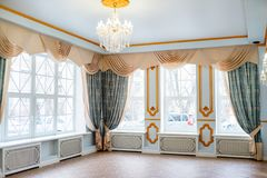 Luxurious vintage interior. Luxurious room interior in the vintage style stock photo