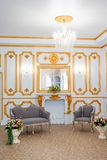 Luxurious vintage interior. Luxurious room interior in the vintage style royalty free stock photography