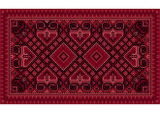 Luxurious vintage oriental carpet with maroon shades Royalty Free Stock Photography