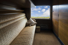 Luxurious vintage train carriage Stock Images