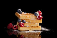 Luxurious waffle background. Royalty Free Stock Photo