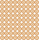 Luxurious wallpapers with round brown patterns Royalty Free Stock Images