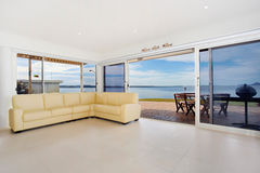 Luxurious waterfront apartment Stock Image