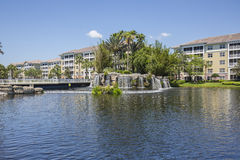 Luxurious Waterfront Condominiums Royalty Free Stock Image