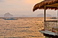 Luxurious Waterfront Villa Royalty Free Stock Image
