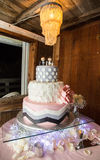 Luxurious wedding cake Royalty Free Stock Image