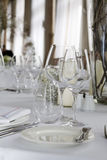 Luxurious wedding dinner Royalty Free Stock Photos
