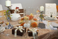 Luxurious wedding dinner Royalty Free Stock Photos
