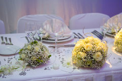 Luxurious wedding dinner Stock Image