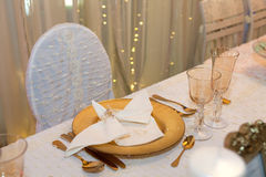 Luxurious wedding dinner Stock Images