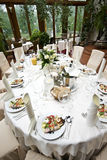 Luxurious wedding table Royalty Free Stock Photography