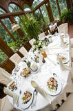 Luxurious wedding table Stock Photography