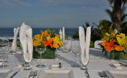 Luxurious wedding table setting 2 Stock Images