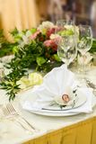 Luxurious Wedding Table Setting Royalty Free Stock Photos